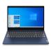 """Laptop Lenovo Ideapad 3 15ADA05 AZUL 15.6"""" AMD R3 3250U/ 1TB + 128GB SSD/ 4GB + 8GB/ W10 Home, 81W10093LM"""