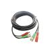 Cable coaxial Epcom armado con conector BNC y alimentación, longitud de 5m, optimizado para HD, DIY5MHD