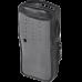 Funda de piel reforzada Versión 2 de fácil acceso y con cubierta de plástico frontal transparente para radios TK-2000KV2, TK-3000KV2, FSMTK-2000V2
