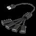 Concentrador Vorago HU-101 4 puertos USB pulpo