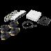 Kit DVR 720p TURBOHD / DVR 4 canales / 4 Cámaras Bala de Policarbonato / 4 Cables 18 Mts / 1 Fuente de Poder Profesional, KIT7204BP