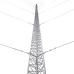 Kit de Torre Arriostrada de Piso de 45 m Altura con Tramo STZ45 Galvanizado Electrolítico (No incluye retenida), Syscom KTZ-45E-045