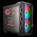 Gabinete Cooler Master Mastercase H500, ARGB, vidrio temp, gris, ATX, sin fuente, MCM-H500-IGNN-S01