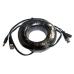 Cable de video y energía Saxxon de 20mts / BNC macho / 1conector M y 1conector H DE energía / recomendable para cámaras HD, WB0120C